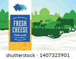 vector cheese illustration with ...   Shutterstock .eps vector #1407325901