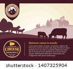 modern style cheese logo. dairy ... | Shutterstock .eps vector #1407325904
