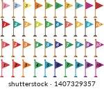 vector image of triangular...   Shutterstock .eps vector #1407329357