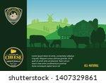 modern style cheese logo. dairy ... | Shutterstock .eps vector #1407329861