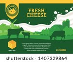 vector cheese illustration with ...   Shutterstock .eps vector #1407329864