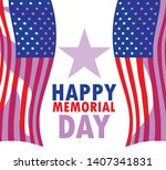 happy memorial day card with...   Shutterstock .eps vector #1407341831