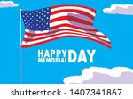 happy memorial day card with...   Shutterstock .eps vector #1407341867