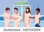 group of professionals doctors... | Shutterstock .eps vector #1407342044