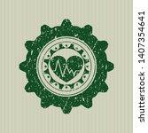 green heart with... | Shutterstock .eps vector #1407354641