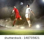 image of two football players...   Shutterstock . vector #140735821
