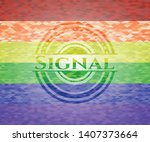 signal on mosaic background...   Shutterstock .eps vector #1407373664