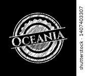 oceania on chalkboard. vector...   Shutterstock .eps vector #1407403307