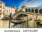 Gondola At The Rialto Bridge...