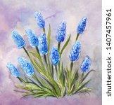 beautiful vintage herbal... | Shutterstock . vector #1407457961