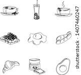 set of vector ingredients for... | Shutterstock .eps vector #1407460247