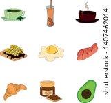 set of vector ingredients for... | Shutterstock .eps vector #1407462014