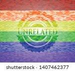 unrelated emblem on mosaic...   Shutterstock .eps vector #1407462377