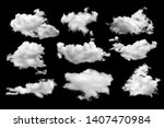 Isolated Cloud Over Black Design - Fine Art prints