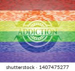 addiction on mosaic background...   Shutterstock .eps vector #1407475277