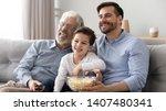 Happy three generations of men...
