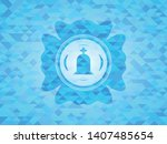 tombstone icon inside realistic ... | Shutterstock .eps vector #1407485654