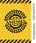anemia black grunge emblem with ... | Shutterstock .eps vector #1407495974