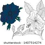 vector hand drawn set of...   Shutterstock .eps vector #1407514274