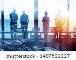 group of business partner... | Shutterstock . vector #1407522227