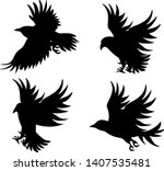 vector image of silhouettes of...   Shutterstock .eps vector #1407535481