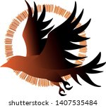 vector image of silhouettes of...   Shutterstock .eps vector #1407535484
