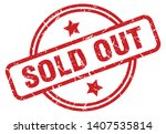 sold out round grunge isolated... | Shutterstock .eps vector #1407535814