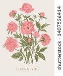 vintage vector floral... | Shutterstock .eps vector #1407536414