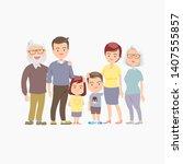 happy big family vector. family ... | Shutterstock .eps vector #1407555857