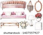 Watercolor Set Of Furniture ...
