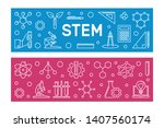 stem vector concept two modern...   Shutterstock .eps vector #1407560174