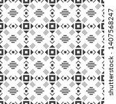 black and white seamless...   Shutterstock .eps vector #1407568247