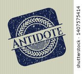 blue antidote distressed rubber ... | Shutterstock .eps vector #1407575414