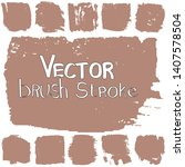 vector brush in grunge style. a ... | Shutterstock .eps vector #1407578504