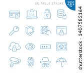 security related icons.... | Shutterstock .eps vector #1407582164