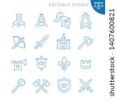 medieval related icons.... | Shutterstock .eps vector #1407600821