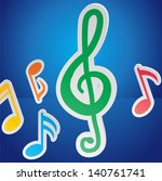 abstract music background | Shutterstock .eps vector #140761741