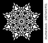 mandala pattern white doodles...   Shutterstock .eps vector #1407641951