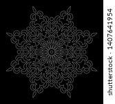 mandala pattern white doodles...   Shutterstock .eps vector #1407641954