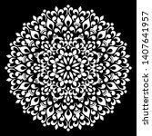 mandala pattern white doodles...   Shutterstock .eps vector #1407641957