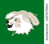 dog head on green background     Shutterstock .eps vector #1407673961