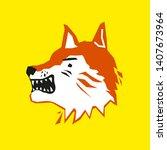 fox head on yellow background     Shutterstock .eps vector #1407673964