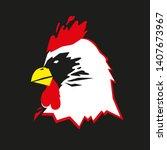 rooster head on black...   Shutterstock .eps vector #1407673967
