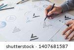 Graphic Designer Drawing Sketc...
