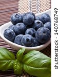 bowl of blueberries | Shutterstock . vector #140768749