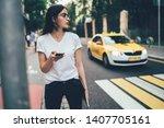 attractive spanish hipster girl ... | Shutterstock . vector #1407705161