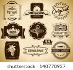 set of vintage labels on the... | Shutterstock .eps vector #140770927