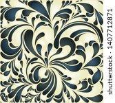 silk texture fluid shapes ...   Shutterstock .eps vector #1407712871
