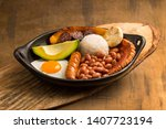 bandeja paisa  typical dish at... | Shutterstock . vector #1407723194
