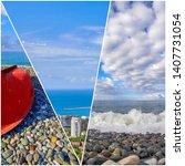 Collage Bright Pictures Sochi Black - Fine Art prints